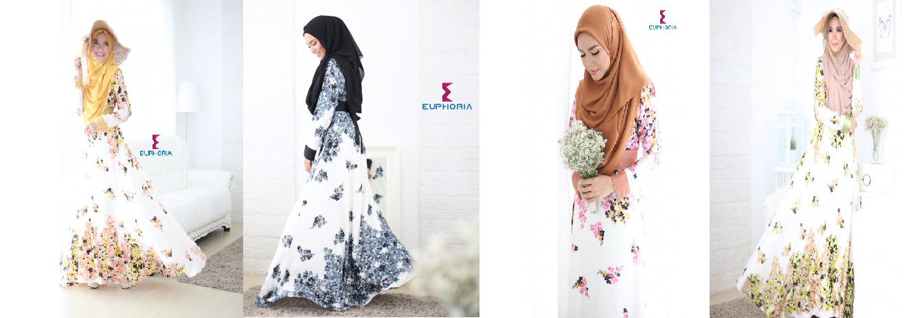 Abayas in floral print designs