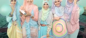 Hijabs in Pastel Colors
