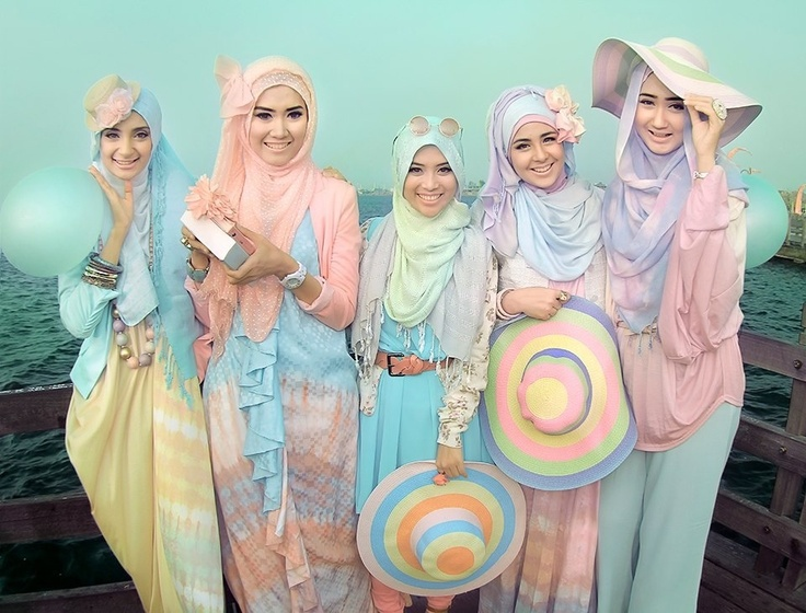 Pastel Colors For A Dainty Summer Look Hijabdressup